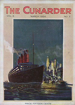 Front Cover, The Cunarder, Budapest Hungary Issue, March 1924