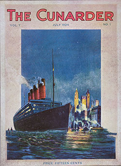 Front Cover, The Cunarder, Mediterranean Special Issue, July 1924