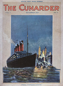 Front Cover, The Cunarder: Special West Indies Number, November 1924