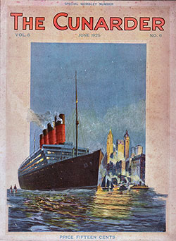 Front Cover, The Cunarder: Special Wembley Number, June 1925