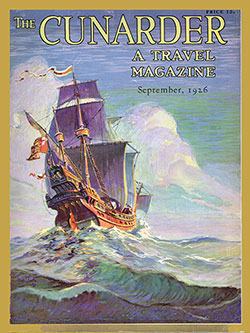 Front Cover of the Cunarder - A Travel Magazine - September 1926