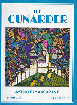 Front Cover of The Cunarder - A Travel Magazine, November 1931