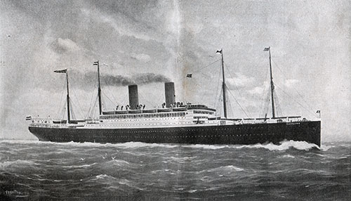 The S.S. Cleveland on her Maiden Voyage 1909