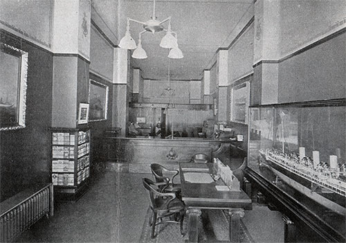 Interior View of the HAPAG Office in St. Louis, MO ca 1909