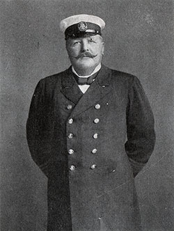 Captain Schülke of the Hamburg-Amerika Linie