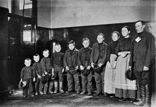 A German Family of One Daughter and Seven Sons