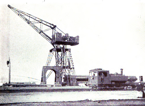 Fifty Ton Electric Hoisting Crane on the South Quays