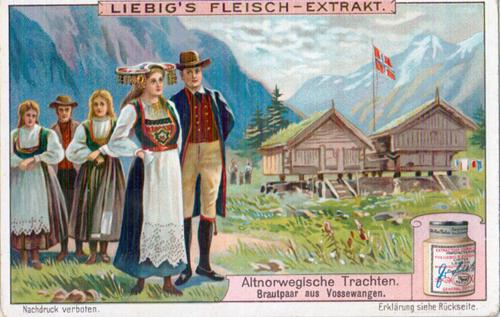 Old Norwegian costumes - cheeks couple of Vosse