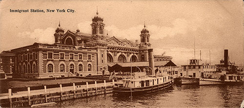 Ellis Island Immigrant Station ca 1900