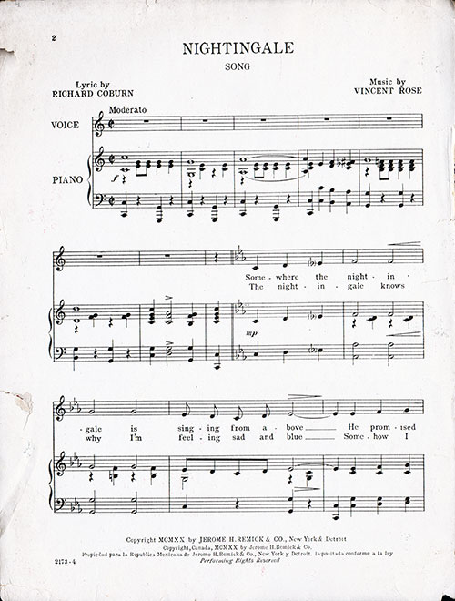 Misic for Piano, Page 1