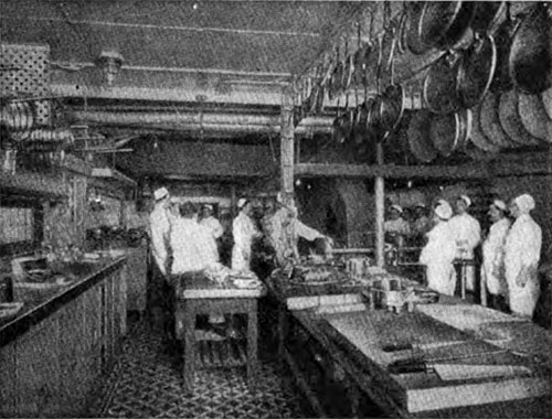 Galley on the R.M.S. Olympic