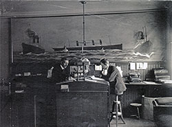 Cunard Line Ticket Office in Trondheim, Norway circa 1910