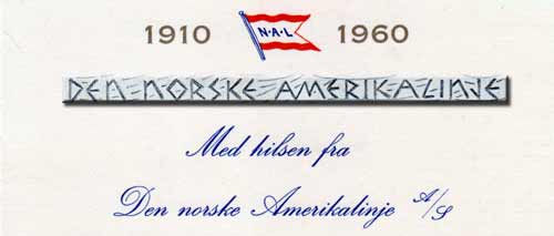 Passenger Lists - Norwegian-America Line (NAL) Available at the Archives