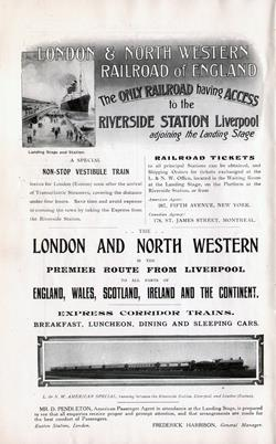 Riverside Station Liverpool - The London & North Western Railroad of England