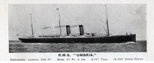 RMS Umbria of the Cunard Line