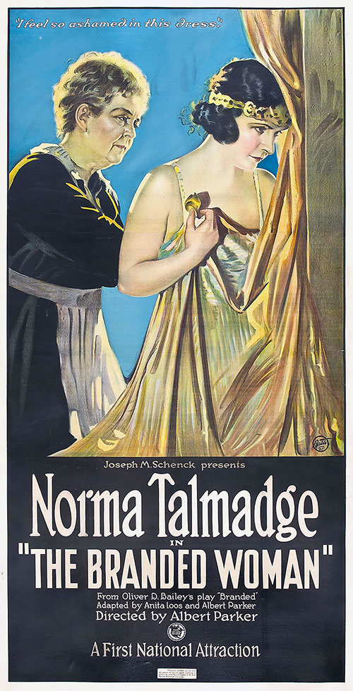 1920 The Branded Woman Movie Poster