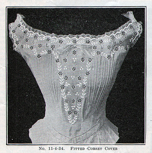 No. 11-4-34 Fitted Corset Cover