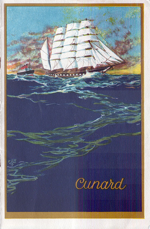 Front Cover, S.S. Mauretania Passenger List 26 September 1928