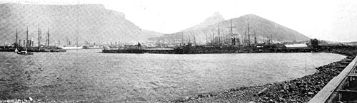 Capetown Docks - View From End of Breakwater - 1907