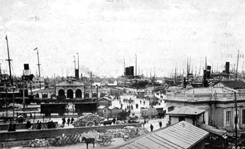 Port of Genoa - 1907