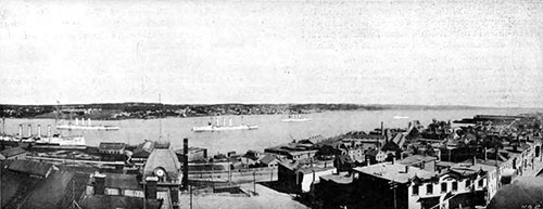 Port of Halifax, Nova Scotia, Canada in 1908