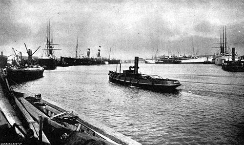 Empress Dock at Southampton in 1907