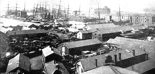 View of Inner Dock at Southampton in 1904