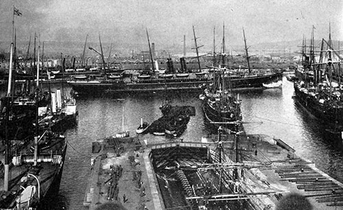 View of Outer Dock at Southampton in 1904