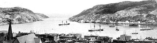 The Harbor at St. John, New Brunswick, Canada in 1907