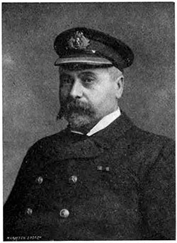 Captain Daniel Dow, Cunard Captains and Chiefs, 1905.