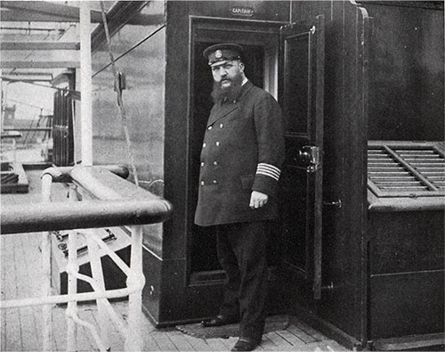 Captain Berends of the Transatlantic Steamship SS Auguste Victoria of the Hamburg America Line.