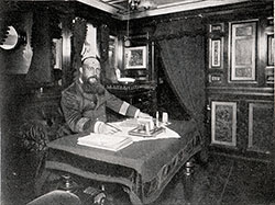The Captain in His Quarters on Board the SS Augusta Victoria.