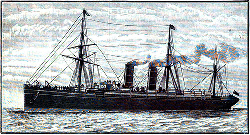 The Royal Mail Steamer Umbria of the Cunard Line.