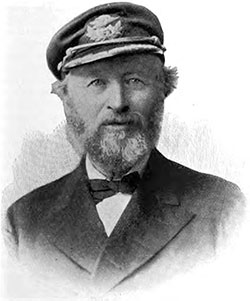 Captain Henry Parsell of the Majestic. The Great Atlantic Liners, May 1895.