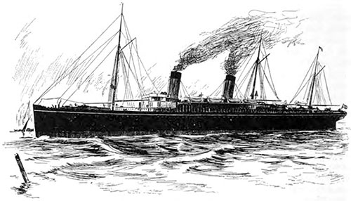 The White Star Line SS Teutonic.