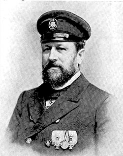 Captain Adolp Albers of the Hamburg America Line SS Fürst Bismarck. The Great Atlantic Liners May 1895.