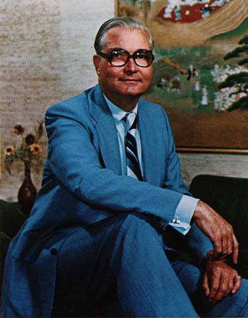 David W. Wallace, Chairman of the Board and President of Bangor Punta Corporation circa 1976.