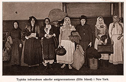 Typical Immigrants at the Immigration Station at Ellis Island, New York.
