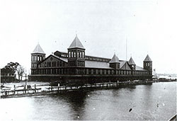 Ellis Island, Looking East From Within the Ferry Basin, 1892-1897.