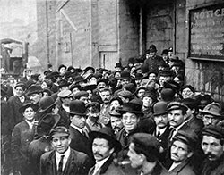 Boston Immigrant Landing Station - Recently Arrived Immigrants circa 1912. The New Immigration, 1912.