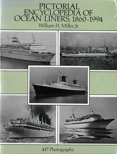 Front Cover, Pictorial Encyclopedia of Ocean Liners, 1860-1994