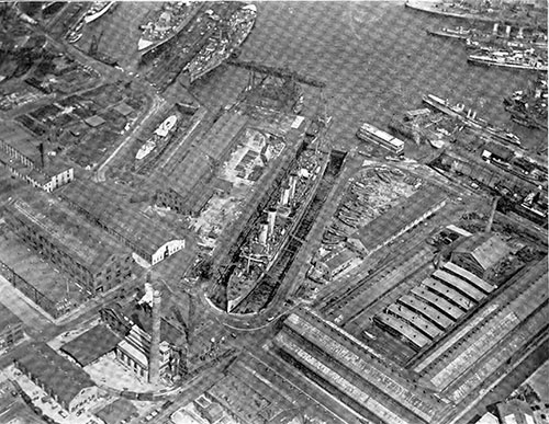 View of the Brooklyn Navy Yard, Taken From the Air.