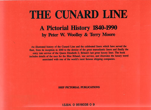 Back Cover, The Cunard Line: A Pictorial History 1840 - 1990