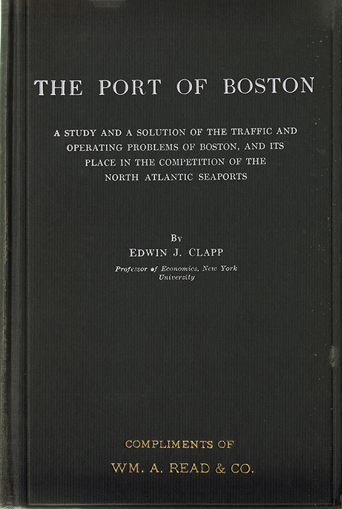Front Cover, The Port of Boston (1916) by Edwin J. Clapp