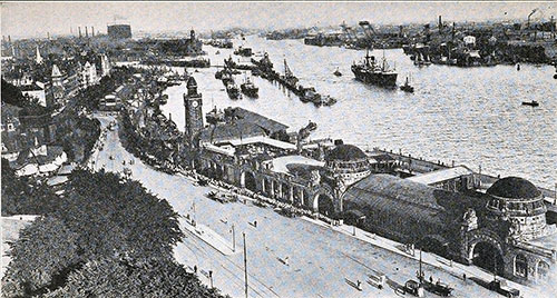 General View of Hamburg Harbor.