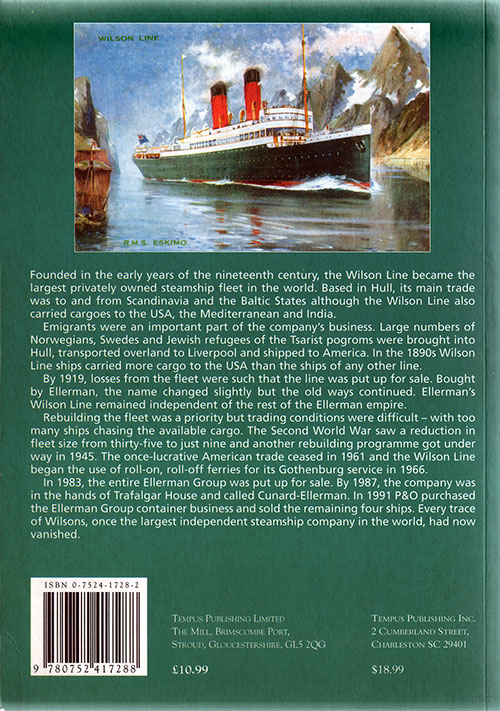 Back Cover, The Wilson Line (2000) by Arthur G. Credland