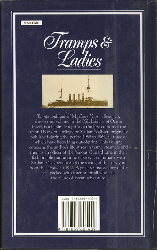 Back Cover, Tramps & Ladies: My Early Years in Steamers (1959/1988)