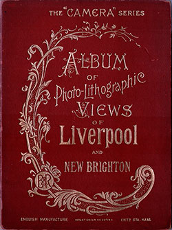 FrontCover, Album of Photo-Lithographic Views of Liverpool and New Brighton