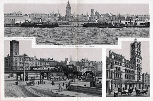 The Port of Liverpool from the Mersey; Mersey Tunnel Station; The Overhead Railway