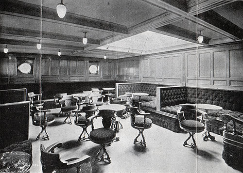 Second Saloon Smoking Room on the SS Corsican